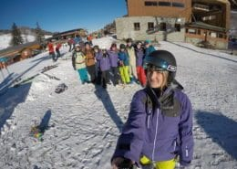 Meribel Students First Day on the BASI 1/2 Residential Course 2017