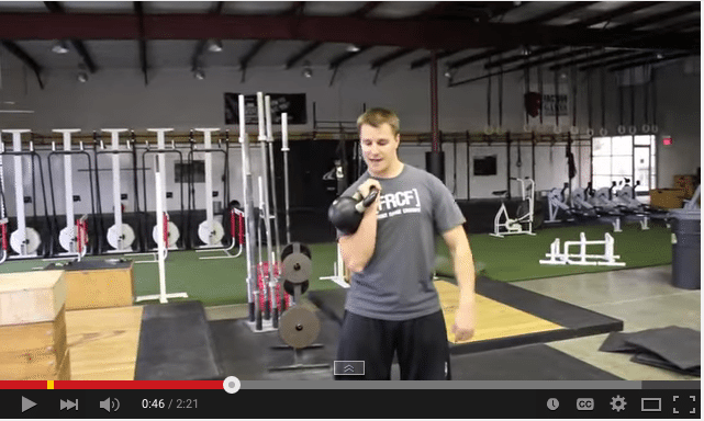 Kettlebell-clean-and-press
